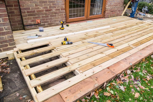 softwood timber decking