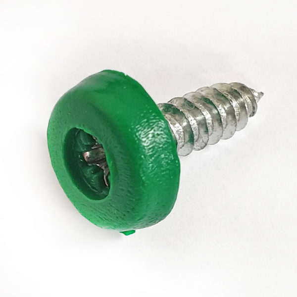 Green Numberplate Screw