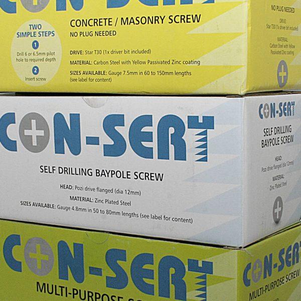 Con-sert (Baypole & Masonry) screws