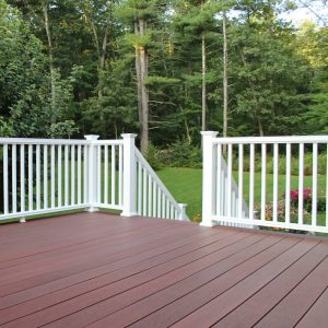 White Composite Decking Balustrade