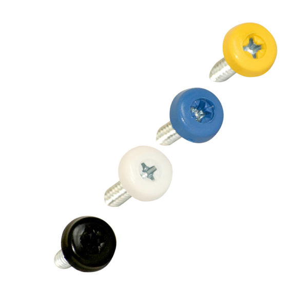Polytop Numberplate Screws Mixed