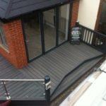 Grey Composite Decking Side Decking Area