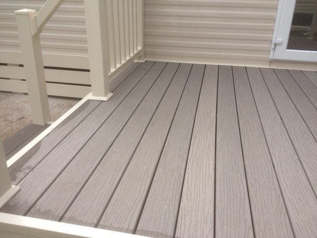 Cornwall Composite Decking Park Home Close up