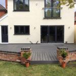 Grey composite decking Leicester - patio area