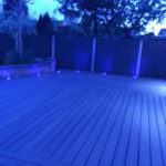 Grey composite decking Leicester close-up