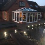 Composite decking by pond Derby