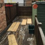 Leicester (Oadby) Composite Decking Project Before (Detail)
