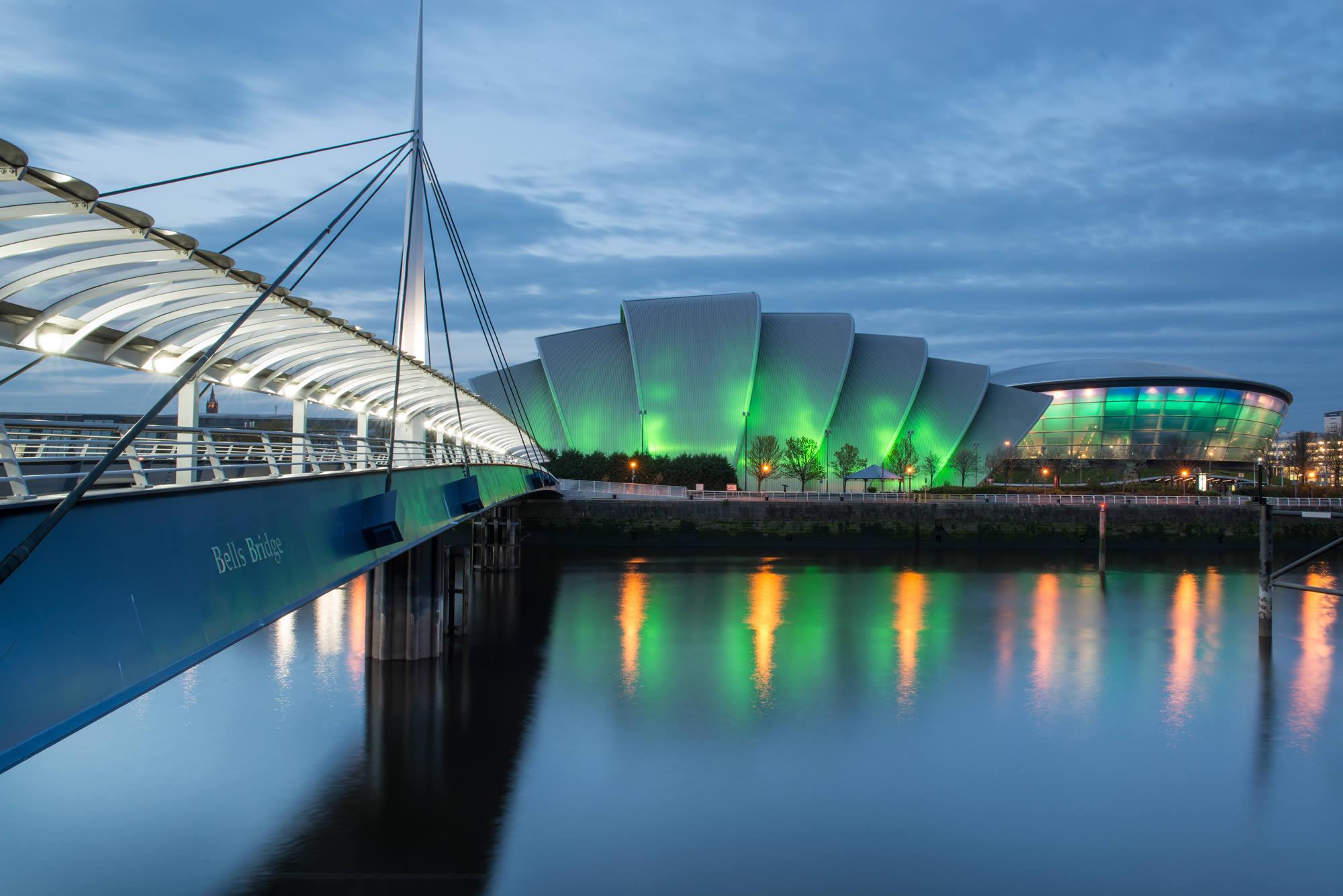 Glasgow city at night