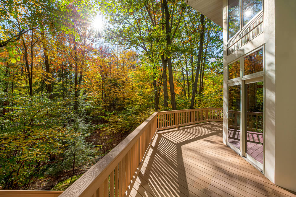 autumn composite decking
